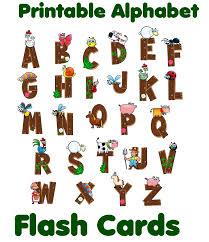 alphabet flash cards printable diy