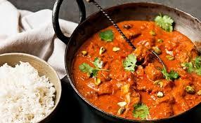 cuisine indienne poulet recette de butter chicken et riz parfumé plat indien à base