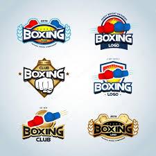 boxing logo templates set u2014 vetores de stock ideasign 110765594