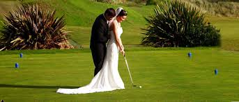 golf and tennis personalized wedding cake toppers