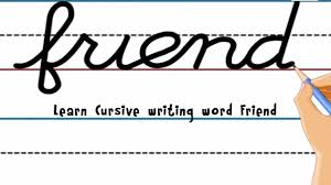 Learning To Write Abc Worksheets Learn Cursive Writing Word Friend Youtube