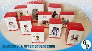 hallmark 2017 ornaments unboxing looney tunes harry potter