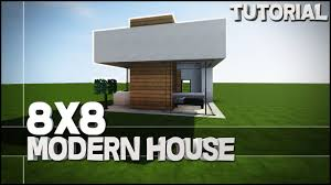 Best House Minecraft House Tutorial 8x8 Modern House Best House Tutorial