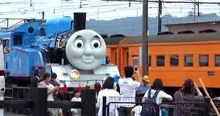 japan sized thomas tank engine steam train run