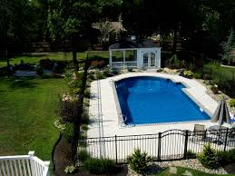 backyard pool landscape house design and planning