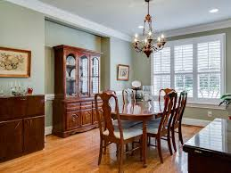 Traditional Dining Room Chandeliers Traditional Dining Room With Hardwood Floors U0026 Crown Molding In