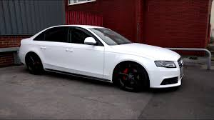 white wrapped cars audi a4 full vinyl wrap with door shuts in gloss white youtube
