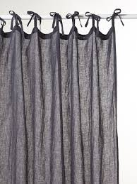 Tie Top White Curtains Muslin Linen Tie Tab Top Curtain Home