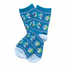 chanukah gifts chanukah gifts blue dreidel kids crew socks