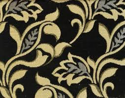 Black And Gold Curtain Fabric Floral Chenille Curtain Fabric Black Gold Curtains Fabx