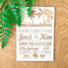 tropical wedding invitation summer love design laser etched