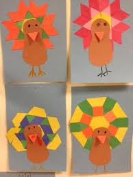 pattern block turkey feathers of genius learn best when
