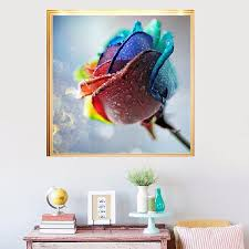 Rose Home Decor by 5d Diamond Painting Rose Flower Embroidery Craft Mosaic Stitch Diy