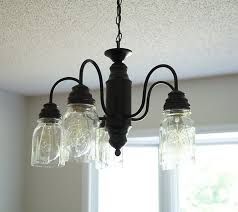 Plastic Crystals For Chandeliers Diy Mason Jar Chandelier Canning Lights Eimatco How To Make A