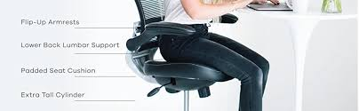 Drafting Chair For Standing Desk Amazon Com Modway Edge Drafting Chair In Black Vinyl Reception