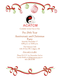 pre 20th year anniversary and christmas party acatcm the