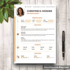 resume templates pages resume template 4 pages cv template cover letter and portfolio