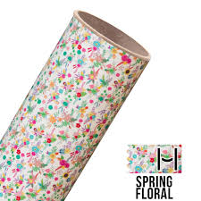 happy face pattern adhesive vinyl spring floral happy crafters
