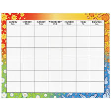 trend large wipe off blank calendar chart quickship com