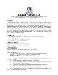 Entry Level Resume No Experience Download Qa Tester Resume Haadyaooverbayresort Com
