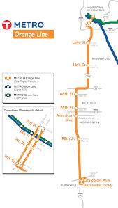 Metro Station Map by Orange Line Stations Metro Transit