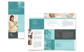 pregnancy clinic tri fold brochure template word u0026 publisher