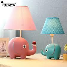 iminovo cartoon table lamps fashion bedroom bedside lamp elephant