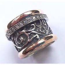 jewellery rings silver images Spinner ring silver gold designer jewelry filigree israeli rings jpeg