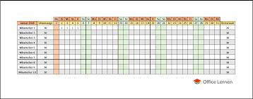 Kalender 2018 Hessen Excel Kostenlose Excel Urlaubsplaner Vorlagen 2018 Office Lernen