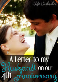a letter to my husband on our 4th wedding anniversary