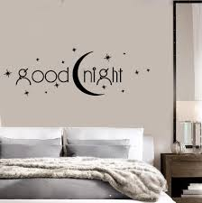 online get cheap wall tattoos quotes aliexpress com alibaba group goodnight vinyl wall stickers decor bedroom quote romance moon stars wall sticker removable wall tattoo design