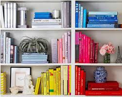 Organizing Bookshelves by Decoratecolorfully Books By Color Make Yourself A Home