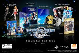 sword art online hollow realization collector u0027s edition revealed