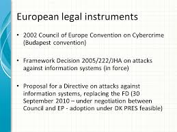 Council Of Europe Convention On Cybercrime Budapest The Eu Framework To Combat Cybercrime Brussels 3 4 April