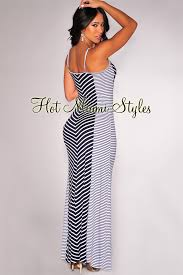 navy blue off white striped maxi dress
