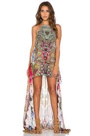 camilla sheer overlay dress lyst