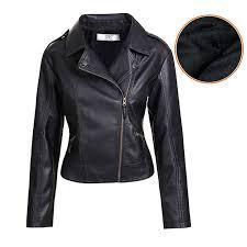 women s slim tailoring faux leather pu short jacket coat us size