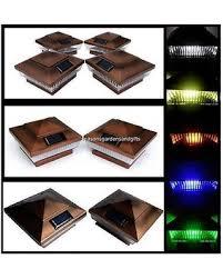 huge deal on solar post cap deck fence lights copper colored 4x4