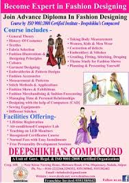 ADVANCE DIPLOMA IN FASHION DESIGNING Fashion Designing Course In
