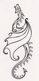 simple norse tattoo drawn viking simple pencil and in color drawn viking simple