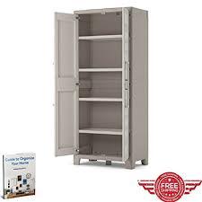 suncast wall storage cabinet platinum amazon com waterproof storage cupboard living room kitchen bedroom