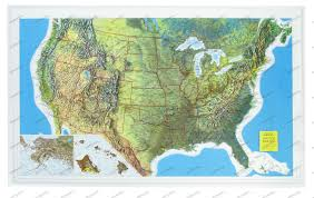 Physical Map Of North America by 3d Relief Usa Map Usa And Us States Wall Maps Northamerica