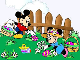Mickey Mouse Easter Eggs Disney Easter Minnie And Mickey Mouse Wallpaper Festive Wallpaper