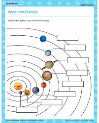 order the planets u2013 solar system worksheets for kids geography