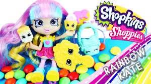 shopkins shoppies rainbow kate doll unboxing review toy review