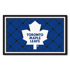 Toronto Area Rugs Fanmats Toronto Maple Leafs 4 Ft X 6 Ft Area Rug 10447 The