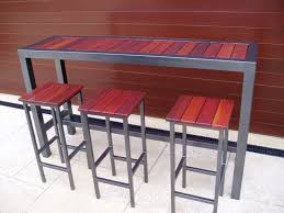 Patio Bar Tables Narrow Outdoor Table Gccourt House