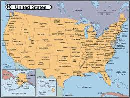 united states map with popular cities united states major cities and capital cities map map