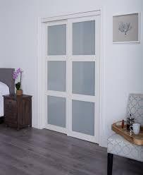 Panel Interior Door Erias Home Designs Baldarassario Mdf 2 Panel Painted Sliding
