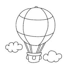 air balloon color page drawing air balloon coloring pages